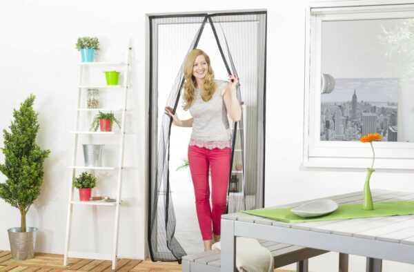 "Magnet-Lamellenvorhang ""STANDARD"" 100 x 220 cm mit Bordüre"